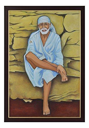 Magnitude-Acrylic-Original-Painting-of-Lord-Shirdi-Sai-Baba-In-Divine-Form-Painting-33-cm-x-23-cm-x-1-cm