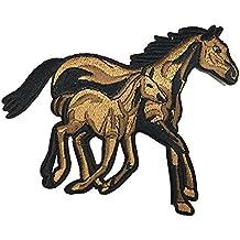 lumanuby 1 x caballo parches para aplicaciones – Camiseta para hombre/Chaquetas bordado parche de