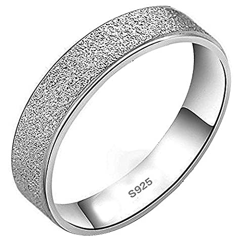 Meixao Mens 925 Sterling Silver Ring Matte for Wedding Band/Anniversary/Engagement Fashion Jewellery for Women