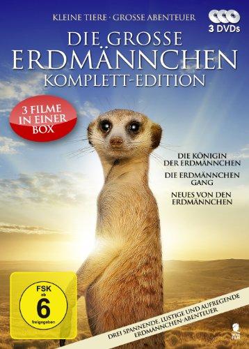 Die große Erdmännchen-Komplett-Edition - 3 spannende und lustige Erdmännchen-Abenteuer in einer Box (Die Königin der Erdmännchen, Die Erdmännchen Gang, Neues von den Erdmännchen) [3 DVDs] (Gang-outlet-box)
