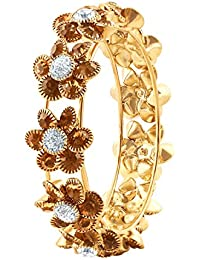 Asmitta Astonish Party Wear Gold Plated LCT Stone Kada For Women