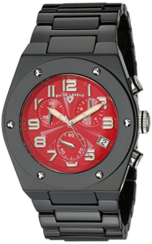 Swiss Legend–sl-10028-bkrsa–Armbanduhr–Quarz Analog–Zifferblatt Rot Armband Keramik Schwarz