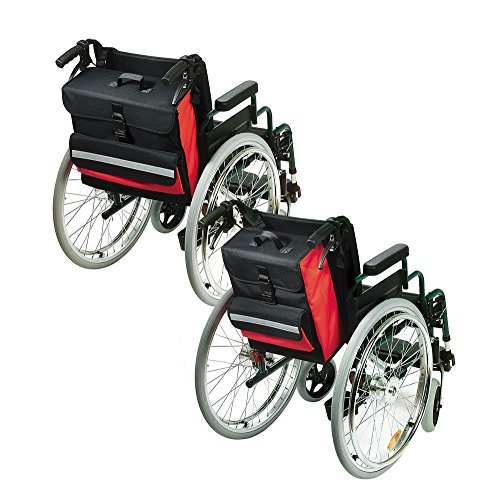 Moritz Rollstuhltasche groß rot/schwarz