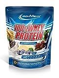IronMaxx 100% Whey Protein Pulver – Eiweißpulver Schokolade-Minze für Proteinshake – Whey Protein mit Schokolade-Minze Geschmack – 2,35 kg Beutel