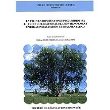 La circulation des concepts juridiques : le droit international de l'environnement entre mondialisation et fragmentation