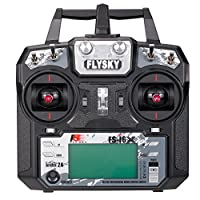 Goolsky Flysky FS-i6X 2.4GHz 6CH/10CH AFHDS 2A RC Transmitter Remote Controller with FS-X6B Receiver for RC Drone Airplane Helicopter
