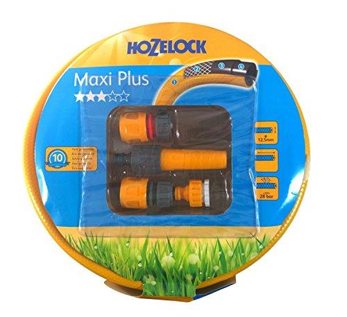 Hozelock Tuyau d'arrosage Maxi Plus tuyau tricoté high twist résistant system avec adaptateur 1/2 \