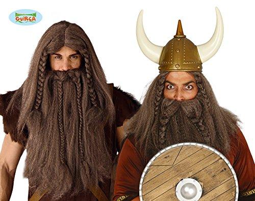 Fiestas Guirca GUI4809 - Vikinger Perücke und (Kostüme Wikinger Bart)