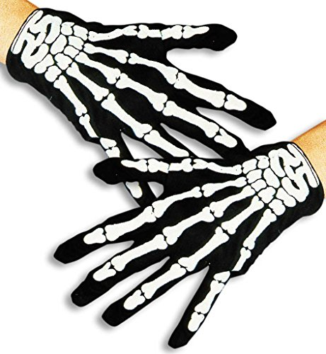Halloween Handschuhe Skelett, Halloween, Party, Karneval, Show, Mottoparty, H...