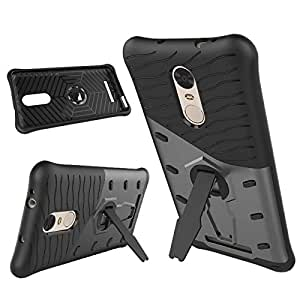 Tarkan™ Xiaomi Redmi Note 3 Back Case Cover 360 Kickstand Original Sniper [Grey]