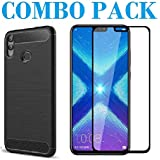 ADRY Combo Offer - 5D_Tempered Glass & Hybrid Back Cover_Premium Quality Screen Guard And Soft Case Cover For Huawei Honor 8X