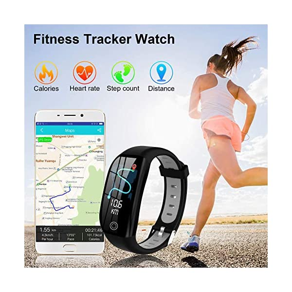 Tipmant Smartwatch, Relojes Inteligentes Mujer Hombre Niños Impermeable IP68 Pulsera Actividad Inteligente con… 3