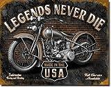 Desperate Enterprises Legends Never Die Bike Blechschild Flach 31x40cm S2177