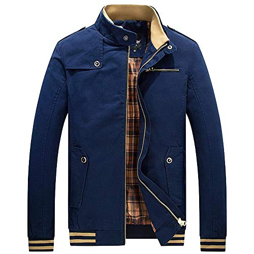 Hommes Chaud Cardigan GlissièRe avec Poche Manteau Hiver Autumne Veste Casual Sweatshirt Sport Pullover Blouse Blouson Pardessus Bleu XXL
