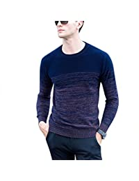 Zicac Pull Slim Manches Longues Col Ronde Homme