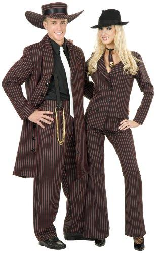 Charades Zoot Suit schwarz/rot Erwachsene Kostüm Größe (Kostüme Suit Erwachsenen Zoot)