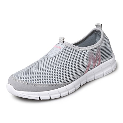 Men's Mesh Breathable Ultral Light Running Shoes gray