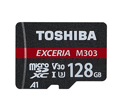 Toshiba m303 scheda di memoria microsdxc exceria 128gb - 98mb/s - classe 10 - uhs-i - u3 - v30 - a1 + adattatore