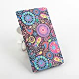 Paisley Style Pattern for Lenovo Vibe P1 Leather Stand