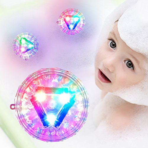 Light-up Toys for Kids - 100 Waterproof Baby Bath Lightning Toy for Toddlers, LED Lights for Party, Bathtub, Swimming Pool - Toddler Girls Boys Toys Bath