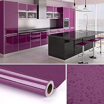 kinlo adesivi carta per mobili 0 6m 5m 1 rotolo viola
