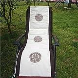 GGYDD Lino Sdraio Tappetino,Ricamo Bovindo Pad Stuoia Pisolino Tatami Patio Lunga Cuscino per Sedia Yoga Meditazione Pad-g 50x150cm(20x59inch)