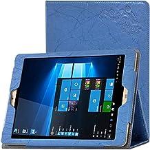 TopAce® Slim Funda de Cuero Con Función de soporte para Onda V919 Air / Onda V919 Air CH (Azul)