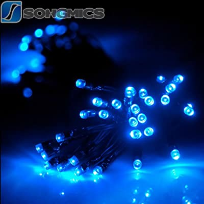11M 7-Farben 60 LEDs Solar LED Lichterkette Streifen Strip Solarleuchte Blau FSL50B