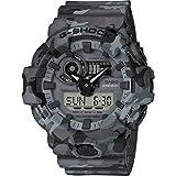 Casio Herren Analog Quarz Uhr mit Harz Armband GA-700CM-8AER