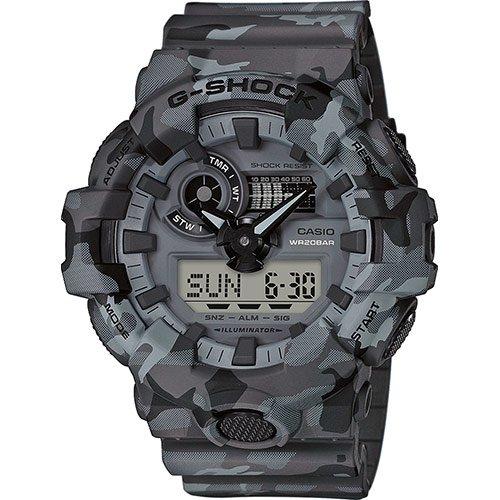 Casio Reloj Analógico-Digital para Hombre Correa en Resina GA-700CM-8AER
