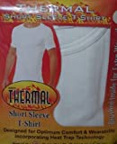 New Men's Heat Trap Technology Thermal T- Shirt / Vest 3-Colours (WHITE) SMALL by GC