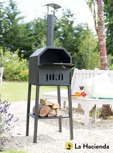 Outdoor Pizza Oven Genoa Barbecue Wood Fired BBQ and Smoker - 56195