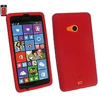 Emartbuy® Microsoft Lumia 535 / Lumia 535 Dual Sim Silikon Skin Tasche Case Hülle Rot