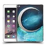 Head Case Designs Offizielle Mai Autumn Silber Mond Garten Weltraum Und Himmel Soft Gel Hülle für iPad Air 2 (2014)
