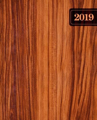 Agenda 2019 Semainier: 19x23cm : Agenda 2019 semainier français : bois rustique 6187 par Papeterie Bleu