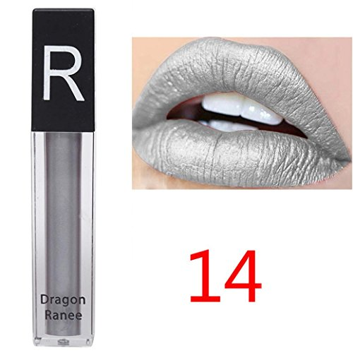 Rouge à lèvres, Tefamore Liquide imperméable Rouge à Lèvres Hydratant Velours Maquillage de beauté cosmétique à lèvres (14#)