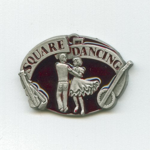 Volkstanz Square Dancing Square Dance Western Musik Badge Pin Pins Anstecker 348