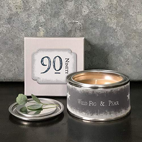 East of India Kerze zum 90. Geburtstag, in Geschenkbox, englische Aufschrift