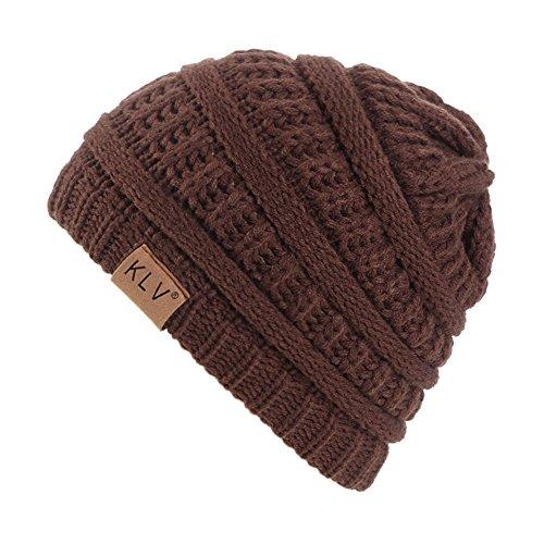 AchidistviQ - Ski hat for baby, girl, Girl, for Outdoors, warm, for Winter brown coffee