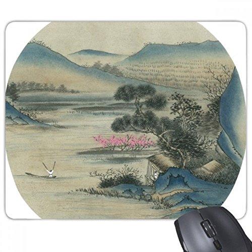 beatChong Hills Fischerboot Chinese Griffige Gummi Mousepad Spiel Büro Mauspad Geschenk Malerei (Gummi-fischerboote)