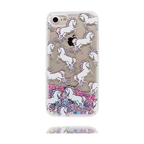 "iPhone 6 Coque, [Bling Glitter Coeur en forme] iPhone 6s étui Cover (4.7""), Fariy Fluide Liquide Sparkles Sables iPhone 6 Case (4.7""), (fée)- Shell anti- chocs Couleur 7"