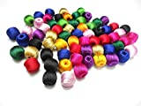 #2: Super shiny silk thread multicolors wrapped beads- all bright colours
