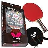 Butterfly 302 - Raqueta de Tenis de Mesa con Funda