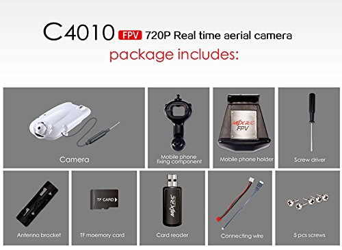 s-idee 01522 Wifi HD Kamera C4010 mit Tonaufzeichnung für Drohnen MJX X400 / X500 / X600 / X800 / X101 / T10 / T55 / T57 / T04 - 3
