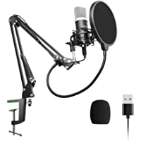 USB Mikrofon, 192kHZ/24bit PC Mikrofon, uhuru Professionell Podcast Mikrofonset mit Mikrofonständer, Shock Mount…