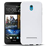 HTC Desire 500 Silikon Hülle Case in Weiss Cover Desire