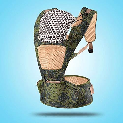 LQRYJDZ 2-in-1 Porte-bébé, Sangle Amovible et Combinaison de selles de la Taille, avec Un Chapeau, Porte-bébés Avant et arrière, Ergonomique Sac à Dos for bébés ( Color : E )