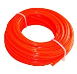 Aerzetix - Corda profilo stella filo rosso di nylon 2.4 mm 15m per tagliaerba taglierina trimmer decespugliatore