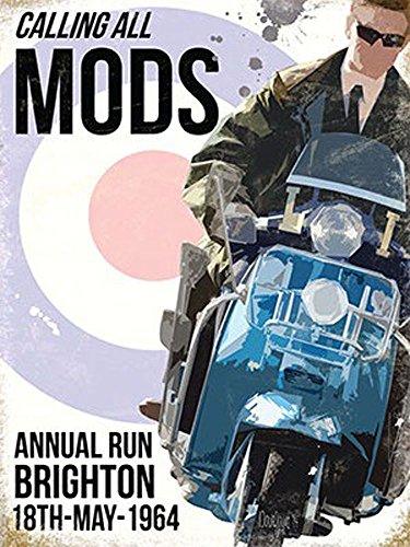 Motorcycle-Calling All Mods Targa-größe15X 20cm