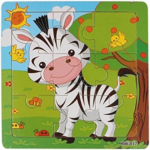 Fortan Legno Zebra Puzzle giocattoli per i bambini l'istruzione e l'apprendimento Puzzle Giocattoli